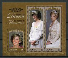 Grenada 2017 MNH Princess Diana 20th Memorial Anniv 3v M/S I Royalty Stamps