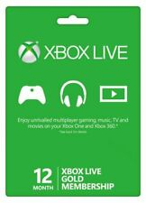 Microsoft Xbox Live 12-Month Gold Subscription Card - 52M-00158