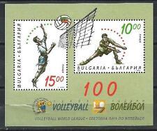 Bulgaria 1995 centenario Pallavolo Yvert blocco n° 182 nuovo 1° scelta