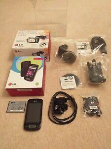 LG P500 Optimus One - Black Mobile Phone + Car Cradle Boxed Set VGC working