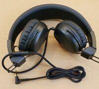 JLab Studio Wired On-Ear Headphones - Black