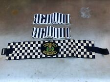 More details for vintage x3 special constable police cloth arm band british home front uniform