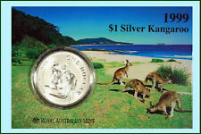1999 $1 Kangaroo Silver Frosted Uncirculated 1 oz. Coin