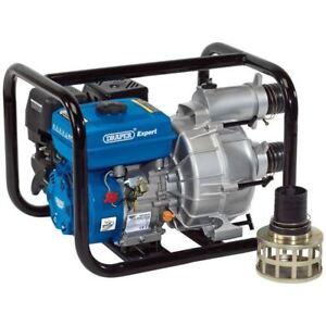 """Draper Expert 3"""" Petrol Trash Water Pump with fittings  16128 Self Priming"""