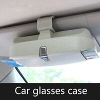 1 Pcs Universal Car Sunglasses Holder Glasses Case Storage Box HO