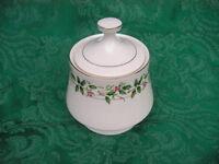 Christmas Holiday Traditions China Sugar Bowl & Lid NEW