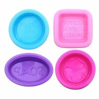 Square Round Oval Soap Moulds Food-Grade Silicone Baking Mould