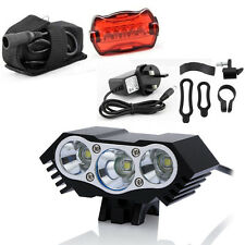10000lm 2/3 CREE XML T6 LED Front Headlamp Bicycle Bike Light Torch Headlight Red