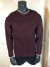 Men's DKNY Jeans V Neck Stitch Sweater Dark Wine Size Medium NWOT