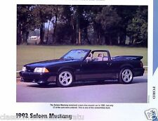 1992 Ford Mustang Saleen Info/photo/prices/options 11x8