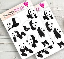 Panda Bear Stickers Scrapbook, Planners, and Fun Cute Pandas - Precut