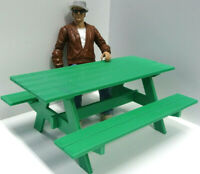 Picnic Table Kit 1/10 Scale Action Figure Doll House Accessories