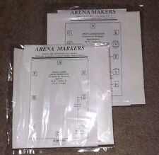 New Lot of 2 Packages Arena Marker Letter