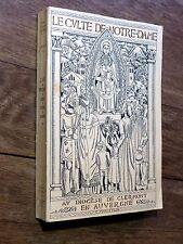 C. Pourreyron - Culte de Notre-Dame au diocèse de Clermont en Auvergne BOST 1936