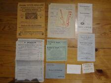 Lot 12 Anciens documents MUSIQUE : Pub, tarif,... JAZZ, instrument, ...