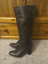 FRENCH CONNECTION LEATHER BOHO HIPPIE FESTIVAL BOOTS SIZE 37