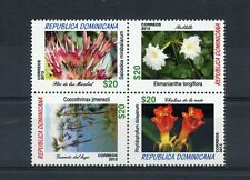 Dominican Republic 2013 MNH Flowers 4v Block Flora Plants