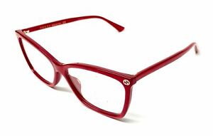 GUCCI GG0025O 004 Red Women's Authentic Eyeglasses Frame 56 mm