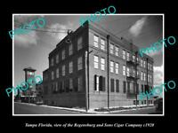 OLD LARGE HISTORIC PHOTO OF TAMPA FLORIDA THE REGENSBURG CIGAR FACTORY c1920