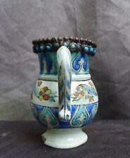 Good quality Iznik jug with polygrome flower decor, Turkey Islam