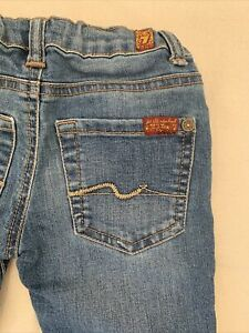 7 For all Mankind Seven Size 2T Straight Jeans EUC! Toddler Girls Adjustable
