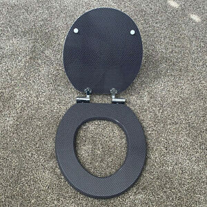Carbon Fiber Toilet Seat - Free Shipping - Soft Close - Round