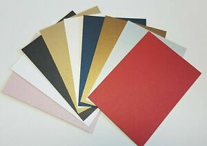 A3, A4, A5, A6 Pearlescent Card Stock, 300gsm, Choose Colour, Qty & Size. Pearl