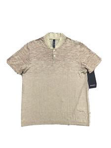 LULULEMON Metal Vent Breathe Polo Men's Short Sleeve Mustard/Red NEW w/Tags $98