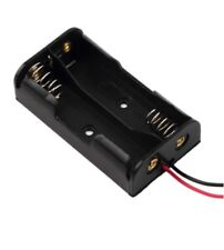 PORTABATTERIE 2X PILA STILO AA box case porta batteria pile contenitore cavo