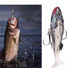1 x Silicone Soft Lures Worm Fishing Baits Bass Trout Shad Bait Crank Swim Bait