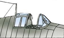 F6F-5 Hellcat Vacuform Canopy for Hasegawa (1/32 Squadron 9406)