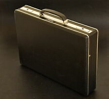 Vintage 60-70's Attache Black Hardshell Case Briefcase by Diplomat with Keys