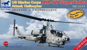 Bronco Model kit NB5049 1/350 USMC AH-1W Super Cobra Attack Helicopter