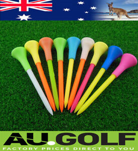 100 Plastic & Rubber Cushion Top Golf Tees 83mm - only one postage cost any qty