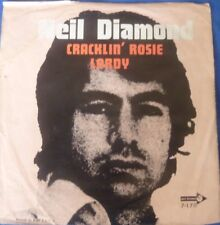 """NEIL DIAMOND Cracklin Rosie/Lordy 7"""" record picture sleeve rare"""