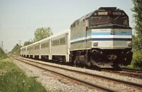 AMTRAK Railroad Locomotive 319 Original Photo Slide