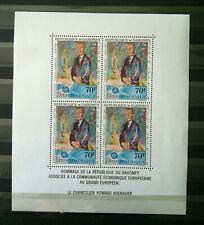 MINI SHEET FROM DAHOMEY - UNUSED, AS PER SCAN. SG CAT £8.75