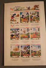Disney stamps: Mickey's Abc's: A-H Mali 1996 sheetlet of 9 Mint Mnh