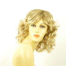 mid length wig for women curly blond wick very light blond ref FLO 15t613  PERUK