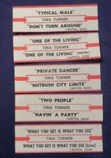 Lot of 5 Jukebox Tags 45 Rpm Title Strips Tina Turner