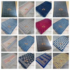 Hand Block Print Area Dhurrie Rug Runner Carpet Throw Indian 4X6 Large Yoga Mat