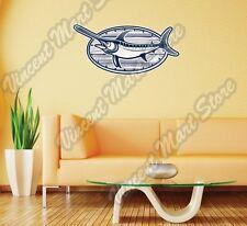 "Swordfish Fishing Fisherman Lures Wall Sticker Room Interior Decor 25""X18"""