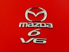 03 04 05 06 07 08 MAZDA 6 V6 REAR GATE EMBLEM BADGE SYMBOL LOGO SET OEM (2004)