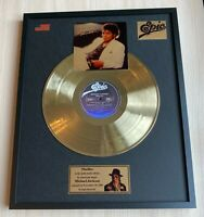Michael Jackson Thriller 1982 Vinyl Gold Metallized Record Mounted In Frame