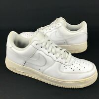 Nike Air Force 1 2014 Low (315122-111) Triple White Men's Size 8.5 Free Shipping