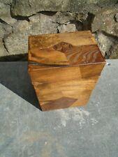 VINTAGE MIXED WOOD CIGAR BOX
