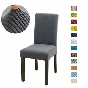 solid Jacquard Chair Covers Spandex For Wedding Dining Room Office