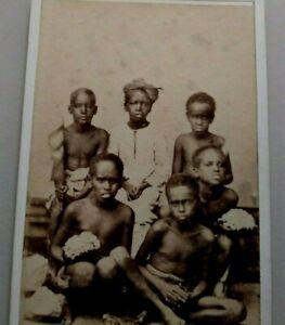 African Children Aden Yemen Africa B. Sorabjee CDV Photo