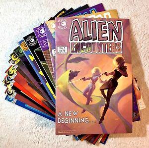 ALIEN ENCOUNTERS #1-14 COMPLETE RUN ECLIPSE COMICS 1985 Bradbury Bolton Jones +