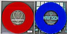 """Rammstein Haifisch Blue Ich Tu Dir Weh Red Mein Herz Brennt 2 New Vinyls 7"""" 45"""
